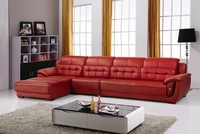 Top Grain Cattle Leather, Multicolor for selction, Smart Style Home sectional sofa set E307