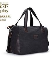 New arrive 100% cotton canvas big bags large capacity travel luggage bag casual handbag man travel bag