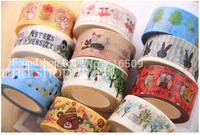 Korean stationery New fashion washi masking striped DIY tape/cute adhesive tape / DIY sticker label/wholesale