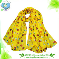 Free Shipping 2013 Full Best Sale Women Flower Chiffon Scarf /Shawl/Wrap/Pashmina