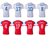 USA Jersey DEMPSEY BLANK ALTIDORE CUSTOM 2014 World Cup American Home White Away Red Soccer Football Kits Uniform Freeshipping