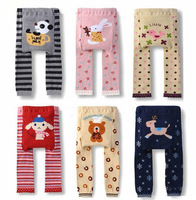 Baby Clothing Winter Elastic Cartoon Baby Toddler Cotton PP Pants Busha Warm Unisex Baby Tights Kids Designer Leggings 6pcs/Lot
