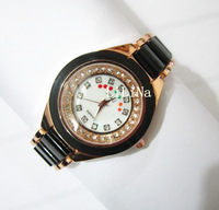 New arrival / plating gold Alloy Set auger / Good quality punk style women fashion watches Free choice
