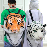 Free HKPOST fashion distinctive 3D Tiger head backpack bigbang gd women backpacks 3D tiger bag BIGBANG GD M0054
