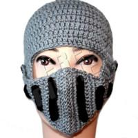 Men's Knit Headwear Gladiators Mask Hat Balaclava