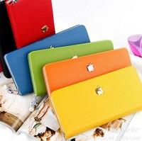 2014 Hot Selling Brand Pearl Zipper Women Leather Wallets W2008
