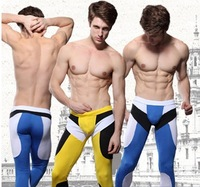 High Quality Fashion Beautiful Body Toning Sexy Men's Underwear Long John Pants Legging Fitness Pants Warm Pants