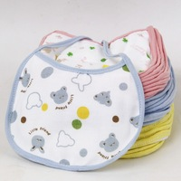 4 pic/lot color random baby bibs cotton gauze triangle waterproof bib baby bibs rice pocket double Specials seconds