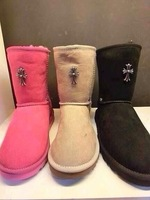 new 2013 European Grand Prix in Australia Sheepskin snow boots flat sleeve Crow warm shoes ankle boots free shipping