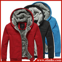 2013 Mens winter thick fleece hoodie men's fashion casual zip hoodies men Cotton jacket warm and comfortable 5color XS-XXXL D073