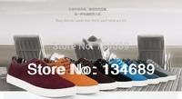 new 2013 brand shoe wholesale big size autumn Mens sapato Fashion nubuck genuine leather platform Casual Sneakers shoes for men