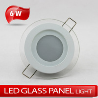 LED glass panel light 6W 5730SMD high brightness ceiling lights warm white/cold white AC85V~265V
