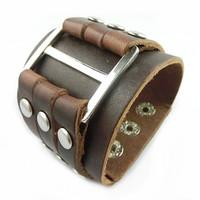 VB239 Wholesale 2014 New Items Men And Women Bracelets & Bangles Leather Bracelet Wide Punk Bracelet Gifts High Quality