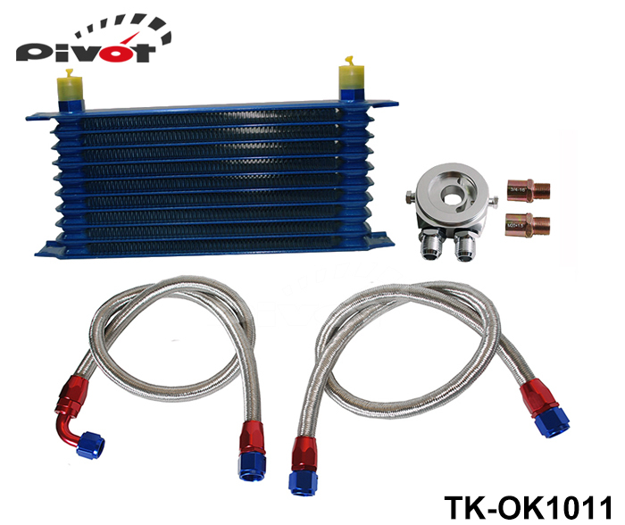 Pivot - Universal 10 Rows Oil Cooler Kit M20XP1.5 3/4X16 UNF Oil Filter Fitting Adapter TK-OK1011(China (Mainland))