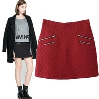 New Arrival Autumn & Winter Skirts For Women Fashion Slim Tight A-Line Skirt Size S-L Red Black Free Shipping Drop Shipping