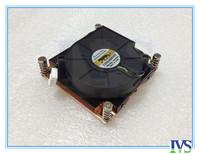 1U server cooler lga ,2011 server copper heatsink with fan,square sharp