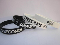 5 SECONDS of SUMMER wristband,5 SOS silicone bracelet,custom design,promotion gift,100pcs/lot,free shipipng
