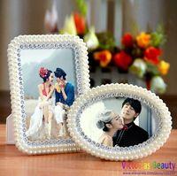 Victorias Fashion resin photo frame,  pearl diamond embeded photo frame, wedding & lovers gift , free shipping