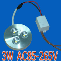 3W AC85-265V LED puck light for cabinent showcase display counter bar lights commercial lighting 14mm untra-thin aluminum shell