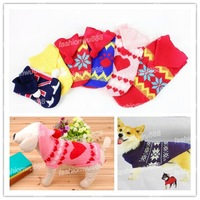 Hot Cute Puppy Pet Cat Dog Apparel Clothes Warm Sweater Knitwear Hat  Coat 6 Sizes Free Shipping 1pcs/lot