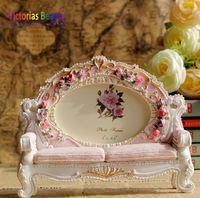 Victorias European fashion sofa photo frame, exquisite carved resin photo frame , free shipping
