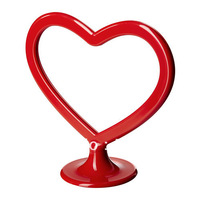 1 piece red color heart shape plastic photo frame