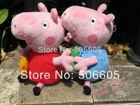 2014 brand new 10 pieces baby kids peppa pig plush toys george pig dolls anime peppa pig toys peppa pig family set