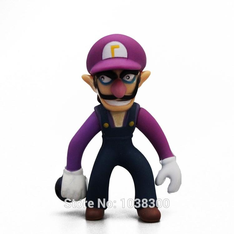 Retail Super Mario Bro Wario Waluigi Pvc Toy Anime Action Figure 10 cm Classic Toy Kids Gift PV8175(China (Mainland))