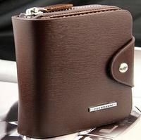 2014 New Fashion Buckle PU Leather Wallet Men/Brand Zipper Bifold Men Wallets/Casual Purse For Men Bags