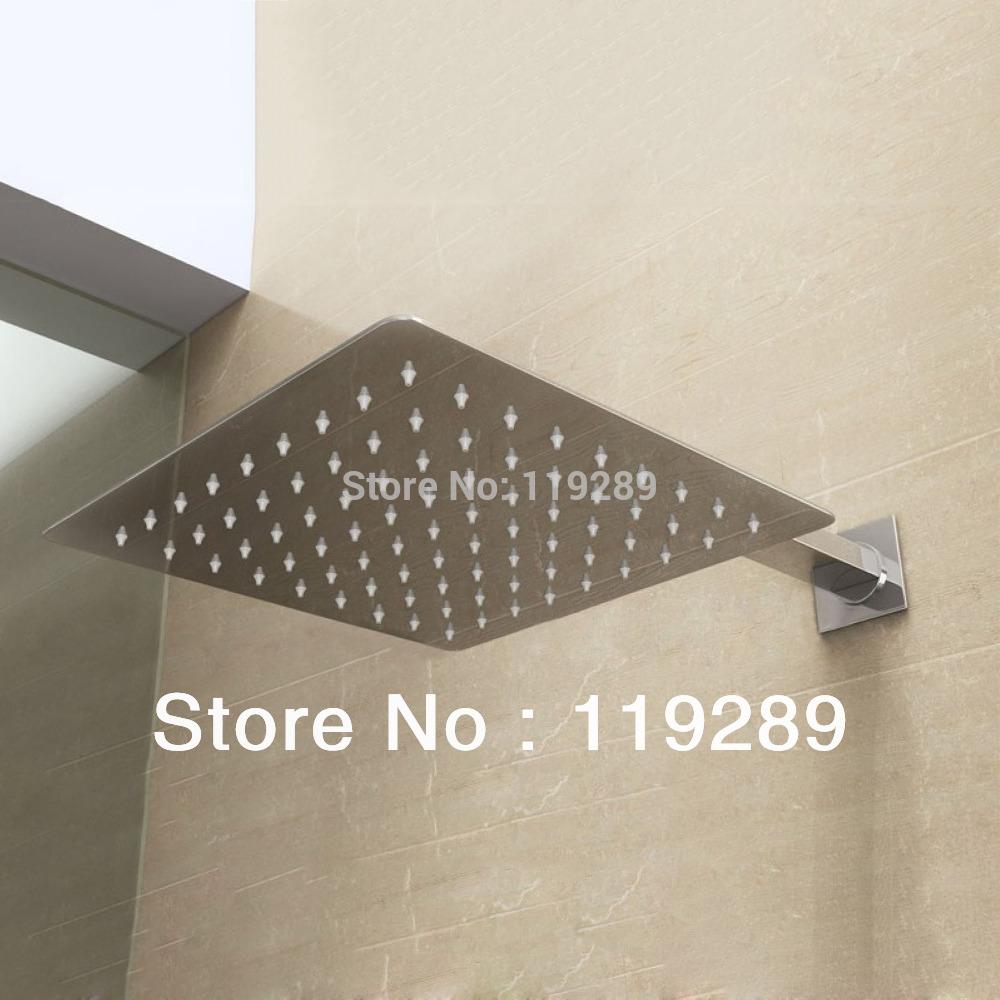 Free Shipping 20cm*20cm stainless steel Rain Shower.Ultra Thin Rain Shower Head&Chuveiro Ducha With 42cm Arm.Accessorie Banheiro(China (Mainland))