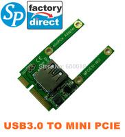 new  Mini pcie to USB 3.0 adapter converter,USB3.0 to mini pci e PCIE Express Card  Free shipping china post SPCA025