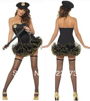 Appeal clothing Female police uniforms puff skirt stewardess halloween sexy ds loading the role of uniform  sexy costumes