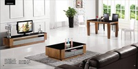 Modern Furniture Set Tea Table,TV Cabinet and Dinning Table Set,3 piece 1 Set, Ashtree wood Stick,Best Living Room Set YQ107