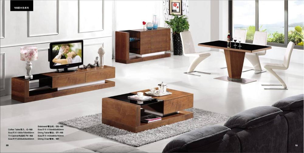 meubles en bois salon furntiure set table basse meuble tv buffet et table basse et meuble tv bois - Table Basse Et Meuble Tv Bois