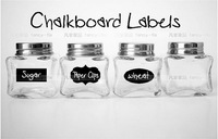 5CM X 3.5CM Cute Chalkboard Sticker Labels Vinyl Kitchen Pantry Organizing Label 3 Design Total 36 Pieces/lot