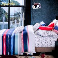 Bedding,Textile 100% slanting stripe cotton piece set 100% cotton sheets duvet cover 4 kit 1.5 1.8 meters