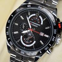 Curren 3ATM waterproof Quartz Men's Watches fashion military Army Vogue Mens Wristwatch, Brand High quality