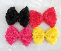 Ebay chiffon three-dimensional rose bow diy hair accessory hair accessory 9 w