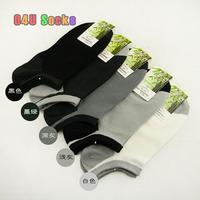 2014 Hot Sale Men's Bamboo Fiber Socks Basketball Sport Black Socks for Men no Smelling 5pair/lot Free Shipping 12