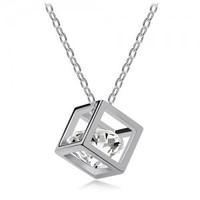 Fashion hearts and arrows zircon accessories magic cube short design necklace pendant