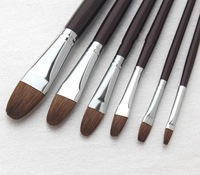 round langhao water chalk crystallise set pen oil brush painting pen panbrush 6pcs/set