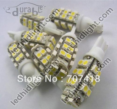 200pcs factory xenon white led automotive bulb 194 168 501 921 W5W T10 28SMD 28 smd 3528/1210 led light(China (Mainland))