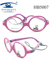 Free Shipping Kids Eyewear Girls Boys PC Optical Frame with Screless Rubber String with Cute Round  Shape Eyewear Accessories