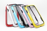 6pcs/Lot Wholesale Dual-color Frame Bumper Soft TPU Case Cover for Samsung Galaxy SIII S3 i9300 Free Shipping