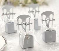 Free Shipping 100pcs/lot Wedding Silver Chair Candy Box Wedding Gift Box Wedding Favors Wholesale