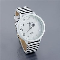 9642 Womage Zebra Strap Ladies Women Fashion Dress Color Stripes Strap Wrist Gift Watch,Christmas Gift   Wristwatches