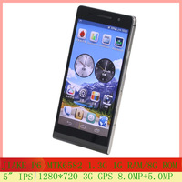 "2014 New Mobile Phone P6 MTK6582 Quad Core 1GB/8GB Andriod 4.2 Phones 5"" 1280*720 IPS Screen Smart Mobile Phone"