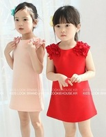 New New 1pcs baby girl flower dress Kids Summer Sleeveless layered dress Children clothes Clothing