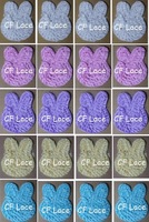 "Free USA ePacket/CPAP 132pcs/lot 5 instock colors 3""  Rosette Bunny Face Applique-shabby chic chiffon bunnies"