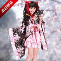 Women's kimono cos cosplay dress maid equipment chokecherry lolita